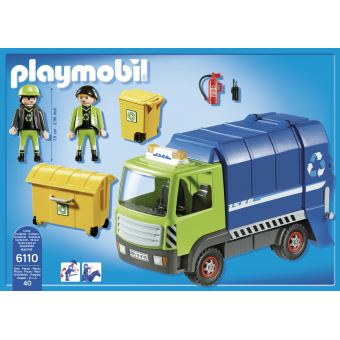 De 6110 Vgpsuzmlq Camion Recyclage Ordures City Playmobil Action b6IfgY7yv