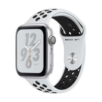 Apple Watch Series 4 Nike+ 44 mm Boîtier en Aluminium Argent avec Bracelet Sport Nike Platine pur et Noir