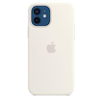 Coque en silicone Apple MagSafe pour iPhone 12 et 12 Pro Blanc