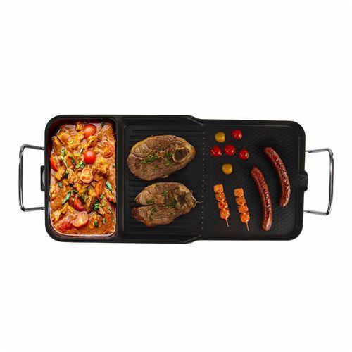 Mijoteuse grill 3 en 1 Livoo DOC132 2000 W Noir avec couvercle