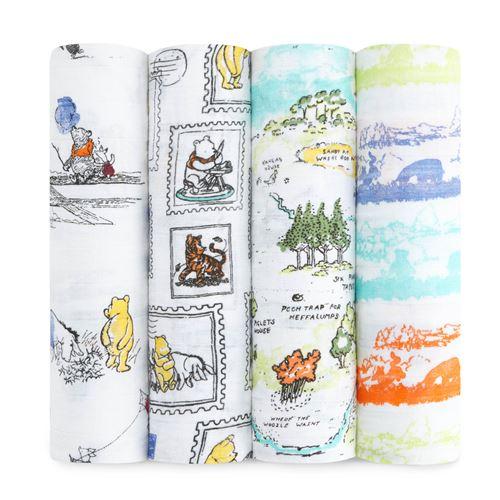 Coffret de naissance Disney Lot de 4 maxi-langes Winnie the Pooh