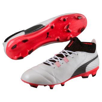 moins cher style de la mode de 2019 bonne vente de chaussures Chaussures de football Puma One 17.1 FG Blanches. noires et rouges Taille 47