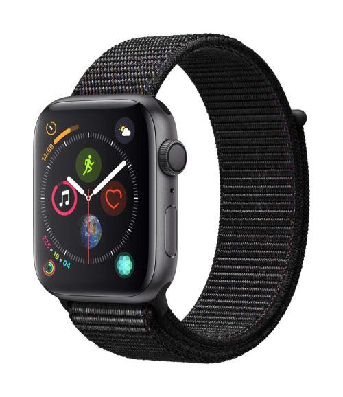 Apple Watch Series 4 44 mm Boîtier en Aluminium Gris sidéral avec Boucle Sport Noir - Montre connectée. Remise permanente de 5% pour les adhérents. Commandez vos produits high-tech au meilleur prix en ligne et retirez-les en magasin.