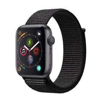 Apple Watch Series 4 44mm Kast van Space Grey Aluminium + Zwart Geweven Sportbandje