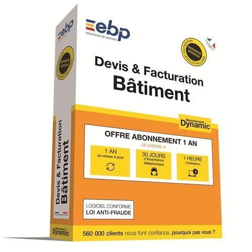 EBP Devis et Facturation Bâtiment Dynamic 1 an Dernière version