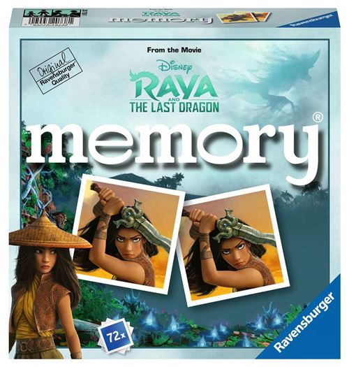 Jeu de mémoire Ravensburger Grand memory Disney Raya et le dernier dragon