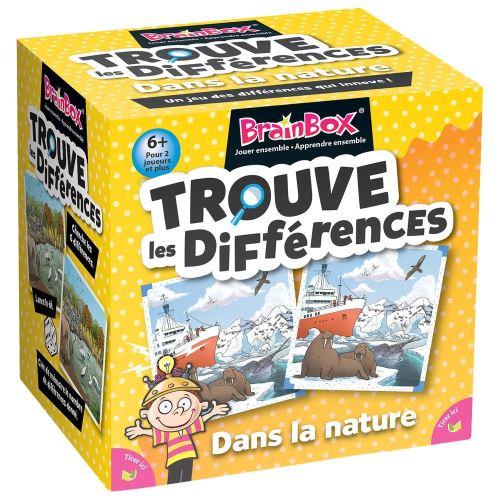 Jeu de mémoire Asmodée BrainBox Le jeu des différences nature sauvage