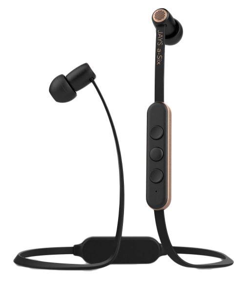 Ecouteurs intra-auriculaires Jays a-Six Bluetooth Noir et Or