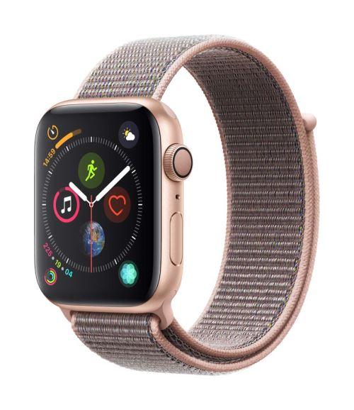 Apple Watch Series 4 44 mm Boîtier en Aluminium Or avec Boucle Sport Rose des sables - Montre connectée. Remise permanente de 5% pour les adhérents. Commandez vos produits high-tech au meilleur prix en ligne et retirez-les en magasin.