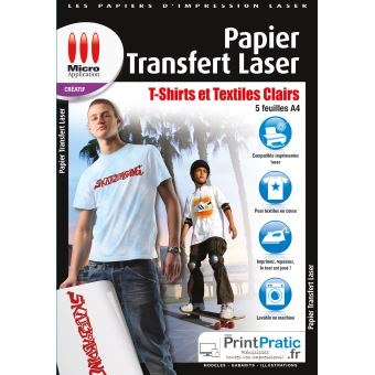 Micro Application Papier transfert Laser textiles clairs