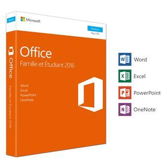 Office Famille et Etudiant 2016 1 PC