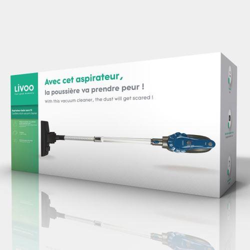 Aspirateur balai sans fil Livoo 120 W Gris et Bleu