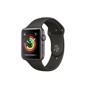 Apple Watch Series 3 42 mm Space grey aluminium behuizing met grijze sportgesp