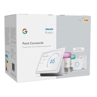 Pack Connecté Fnac Google Nest Hub + Kit de démarrage Philips Hue...