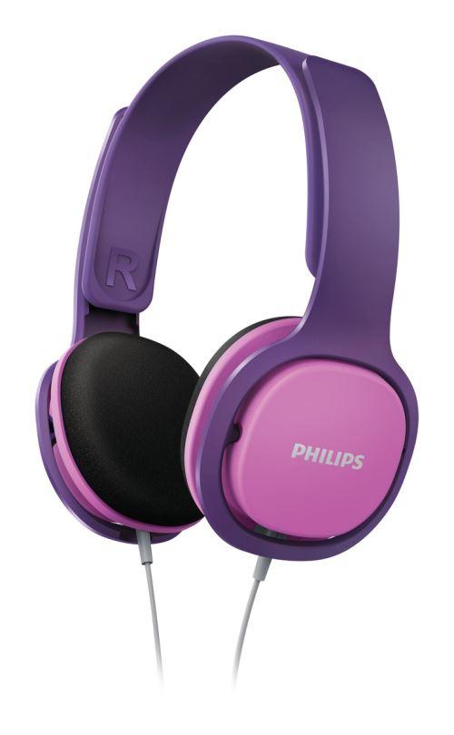 Casque audio pour enfant Philips SHK2000PK Rose et violet