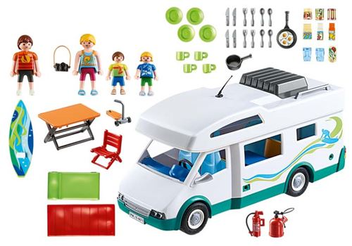 6671 Famille Summer Playmobil Car Fun Avec Camping IWE9DH2Y