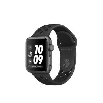 Apple Watch Nike+ 38 mm Boîtier en Aluminium Gris Sidéral avec Bracelet Sport Nike Anthracite Noir