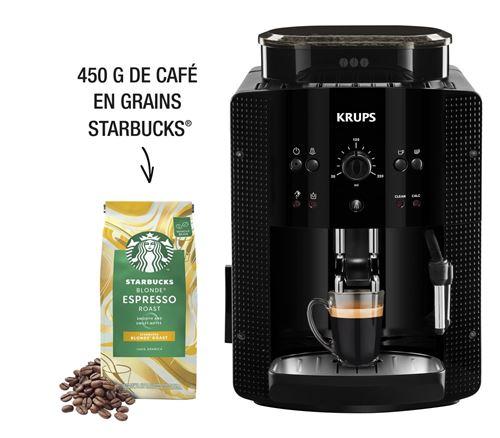 Expresso avec broyeur Krups YY4540FD Essential 1450 W Noir avec 2 paquets café Starbucks