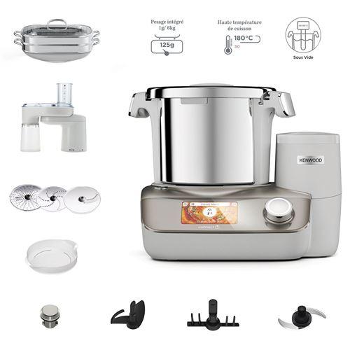 Robot cuiseur connecté Kenwood CookEasy+ Premium CCL50.B9CP 1500 W Blanc et Argent