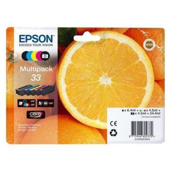 Multipack de 5 cartouches Epson 33 Oranges Clara Premium