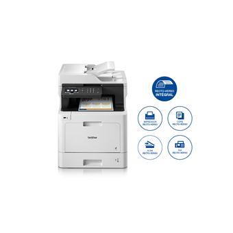 Imprimante Brother MFC-L8690CDW Multifonctions Ethernet et WiFi Blanc