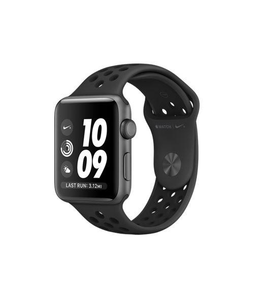 Fnac.com : Apple Watch Nike+ 42 mm Boîtier en Aluminium Gris Sidéral avec Bracelet Sport Nike Anthracite Noir - Montre connectée.