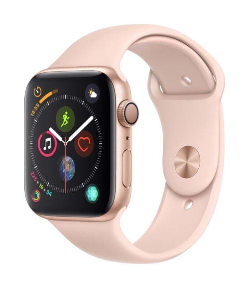 Apple Watch Series 4 44 mm Boîtier en Aluminium Or avec Bracelet Sport Rose des sables - Montre connectée. Remise permanente de 5% pour les adhérents. Commandez vos produits high-tech au meilleur prix en ligne et retirez-les en magasin.