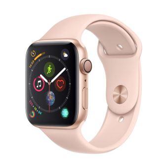Apple Watch Series 4 44 mm Kast van goudkleurig aluminium, met rozenkwarts sportbandje