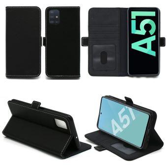 Samsung Galaxy A51 Etui noir Protection Portefeuille à Rabat avec Porte Cartes - Housse Galaxy A51 / A51 5G noire Folio Coque Silicone Antichoc ...