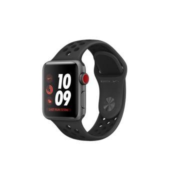 Apple Watch Nike+ Cellular 38 mm Boîtier en Aluminium Gris Sidéral avec Bracelet Sport Nike Anthracite Noir