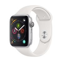 Apple Watch Series 4 44mm Kast Aluminium + Wit Sportbandje