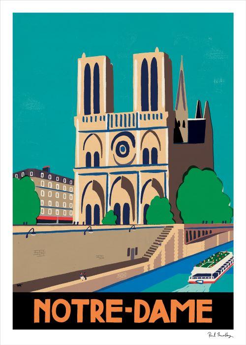 Affiche Notre-Dame Sergeant Paper 30x42cm Edition limitée signée