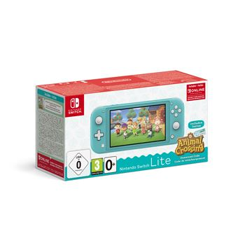 Console Switch Lite Nintendo Switch Lite Turquoise+AC+contenu