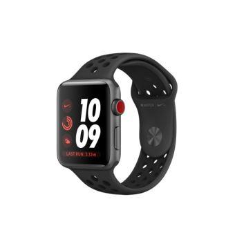 Apple Watch Nike+ Cellular 42 mm Boîtier en Aluminium Gris Sidéral avec Bracelet Sport Nike Anthracite Noir