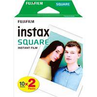 Film Fujifilm Instax Square Bi-Pack 2 x 10 poses avec cadre blanc