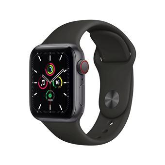Apple Watch SE GPS + Cellular, 40mm boitier aluminium gris sidéral avec bracelet sport noir