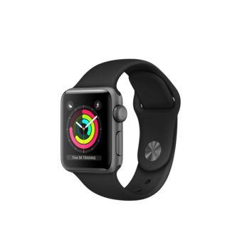Apple Watch Series 3 38 mm Boîtier en Aluminium Gris sidéral avec Boucle Sport Noir
