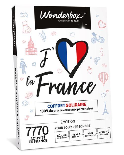 Coffret cadeau Wonderbox J'aime La France Emotion...