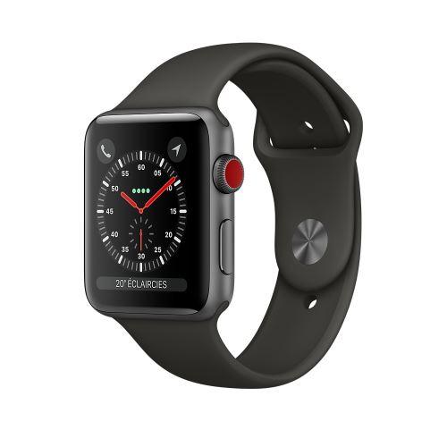 Apple Watch Series 3 Cellular 38 mm Boîtier en Aluminium Gris sidéral avec Bracelet Sport Gris - Montre connectée. Remise permanente de 5% pour les adhérents. Commandez vos produits high-tech au meilleur prix en ligne et retirez-les en magasin.