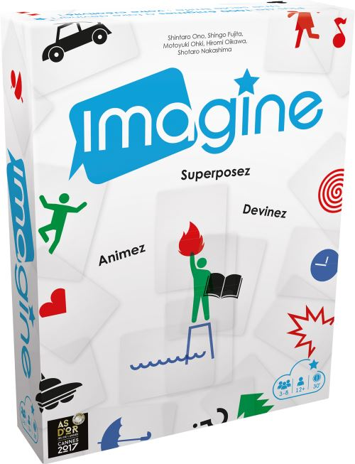 Jeu d'imagination et de déduction Asmodée Imagine