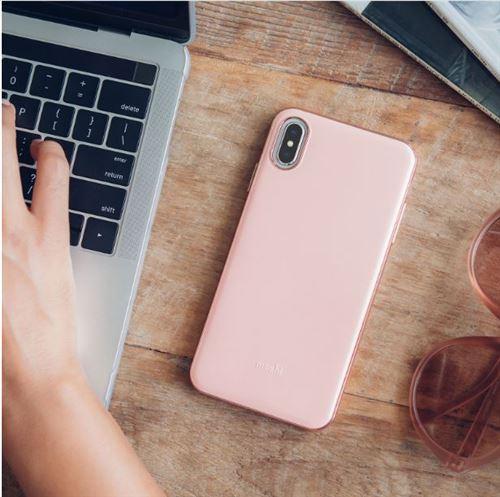 coque iphone xs max fine rose