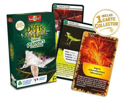 Jeu de cartes Bioviva Défis Nature Super pouvoirs des animaux