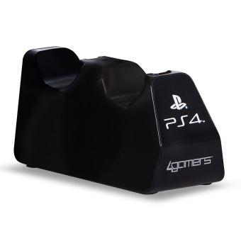 Double Chargeur USB 4gamers Noir pour manette PS4