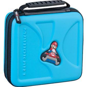 Pochette de transport rigide BigBen Mario Kart pour Nintendo 2DS et 3DS Bleu