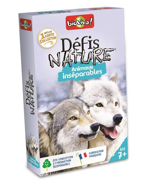Jeu de cartes Bioviva Défis Nature Animaux Inséparables