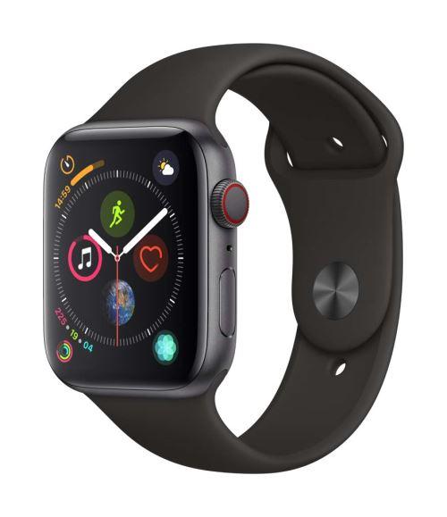 Fnac.com : Apple Watch Series 4 Cellular 44 mm Boîtier en Acier inoxydable Noir sidéral avec Bracelet Sport Noir - Montre connectée.