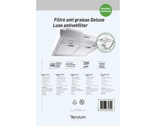 Filtre anti graisse Temium Deluxe