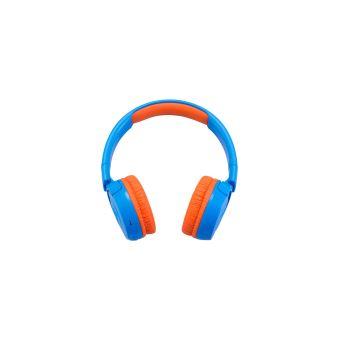 Casque sans fil JBL JR300BT Bluetooth Bleu et Orange pour enfants