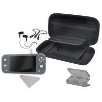 6 in 1 Starter Accessoirepakket Zwart  voor Nintendo Switch Lite