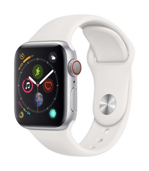 Fnac.com : Apple Watch Series 4 Cellular 40 mm Boîtier en Acier inoxydable avec Bracelet Sport Blanc - Montre connectée.